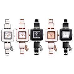 amazones gadgets QR Glass Watch Window Square Simple Rhinestone Dial Fashion Women Quartz Watch w: Bid: 16,36€ Buynow Price 16,36€…