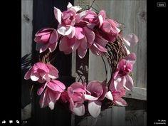 Magnolia rustic  wreath. Designed by Jude Bastion.