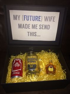 Will you be my groomsman? Crown and coke gift box.