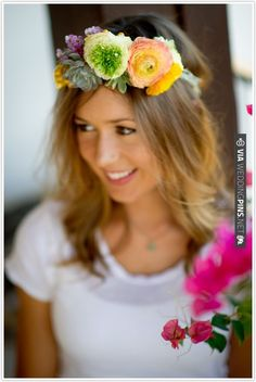 Byrd Collective, Flower crown DIY, floral inspiration, instructions, step by step | CHECK OUT MORE IDEAS AT WEDDINGPINS.NET | #weddings #diyweddings #diy