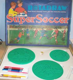Rotadraw, I am sure I had a set of these for Christmas.... Not sure if they we football ones like these.