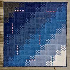 x Woven Denim Quilt - Mister Domestic Boy Quilts, Rag Quilt, Denim Quilts, Strip Quilts, Quilt Blocks, Quilt Inspiration, Creative Inspiration, Quilt Storage, Art Gallery Fabrics