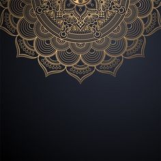 Free Vector | Luxury ornamental mandala background in gold color Luxury Background, Geometric Background, Background Patterns, Vector Background, Mandala Pattern, Mandala Design, Mandala Art, Black Backgrounds, Flower Backgrounds