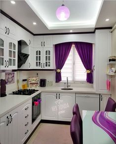60 Floors for kitchen: models and types of materials - Home Fashion Trend Kitchen Room Design, Home Decor Kitchen, Interior Design Kitchen, Room Interior, Rideaux Design, First Apartment Decorating, Craftsman Kitchen, Pantry Design, Kitchen Curtains