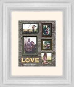 Photo Real Love Framed Print, White, Classic, White, Cream, Single piece, 8 x 10 inches, Brown
