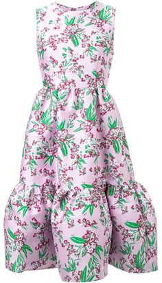 Jonathan Saunders floral jacquard 'Lucille' dress