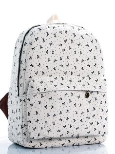 Butterfly canvas backpack
