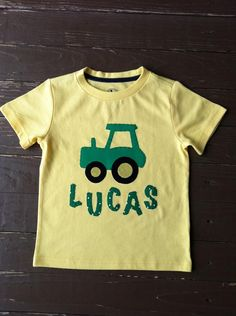 7aa24a93a t-shirts · Sorella's personalized applique tractor shirt by  EverythingSorella, $25.00 Tractors, Embroidery, Bespoke Suit,