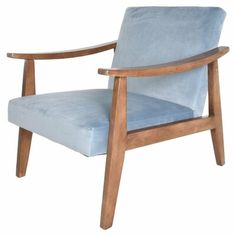 New Zenvida Mid Century Modern Accent Armchair Solid Hardwood Upholstered online shopping - Toptrendygroup Contemporary Armchair, Modern Rustic Interiors, Mid Century Style, Better Homes, Home Furniture, Upholstered Furniture, The Help, Mid-century Modern, Accent Chairs