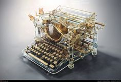 Funny pictures about Awesome Typewriter. Oh, and cool pics about Awesome Typewriter. Also, Awesome Typewriter photos. Underwood Typewriter, Design Spartan, National Novel Writing Month, Antique Typewriter, Modern Typewriter, Vintage Typewriters, Le Far West, 3d Artist, Cool Stuff