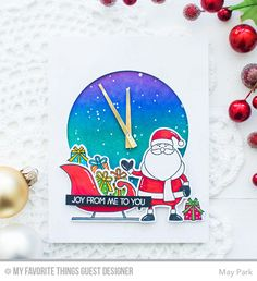 Merry Everything Stamp Set and Die-namics, Circle STAX Set 1 Die-namics - May Park  #mftstamps
