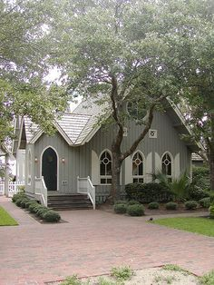 Chapel at Bald Head Island, North Carolina. Inspiration for the Chapel Bash and Megan say their vows in. Old Country Churches, Old Churches, North Carolina Homes, South Carolina, Church Pictures, Nature Pictures, My Father's House, Bald Head Island, Take Me To Church