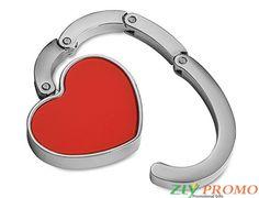 Handtaschenhalter in Herzform Werbefläche: 20 x 15 mm Maße: 4.8x4.2x0.7 cm