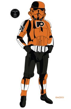 STORM TROOPER Philadelphia Flyers ARMOR limited by IndustrialAge, $3.99