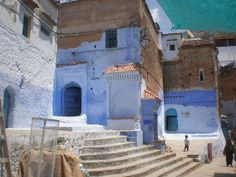 houses in Chefchaouen, Morocco