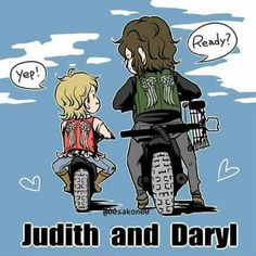 The Walking Dead: Daryl Dixon and Judith Grimes Daryl The Walking Dead, Rosita The Walking Dead, Walking Dead Fan Art, Walking Dead Quotes, Walking Dead Funny, Maggie Greene, Carl Grimes, Judith Grimes, Norman Reedus