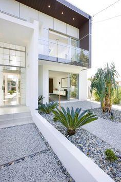 Glass, modern home