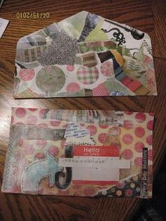 Mail art, Collage on envelope to tuck into a journal? by julianne