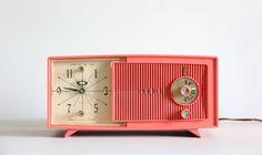 vintage mid century radio clock by wretchedshekels on Etsy