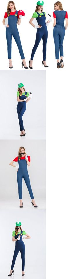 Halloween Costumes Couples: Halloween Costumes Outfits Women S Adult Super Mario And Luigi Workmen Couples -> BUY IT NOW ONLY: $15.99 on eBay!