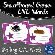 CVC Words: Spelling CVC Words Game for Smartboard/Promethean Board!