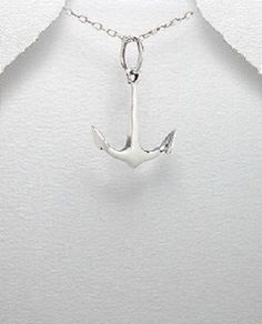 Nautical Sterling Silver Navy Ship Anchor necklace