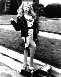 """Traci Lords as Wanda in John Water's """"Cry-Baby"""". One of the best films in existence. I feel in love with this movie when I was 13 & Johnny Depp John Waters, Cry Baby 1990, Traci Lords, Cult, Rockabilly Fashion, Rockabilly Style, Psychobilly Style, Rockabilly Dresses, Rockabilly Clothing"""