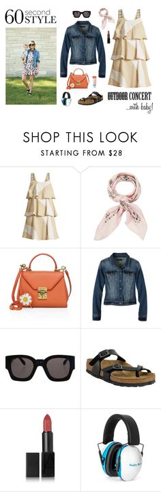 """park concert with baby"" by redressingbloggers ❤ liked on Polyvore featuring ace & jig, Manipuri, Mark Cross, prAna, Karen Walker, Birkenstock and NARS Cosmetics"