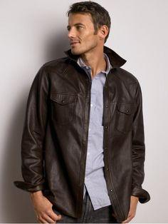 Bannana Republic Mens Leather Jacket