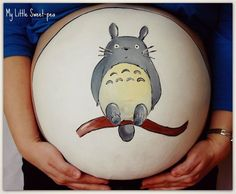 Totoro belly painting #pregnancy