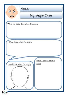 Simple sheet that can be worked through with a pupil to help identify what happens when they feel angry and what they can do to relieve their anger. Two styles of sheets available: one with the addition of a body shape for drawing on. Both sheets available in 2 different skin tones. - repinned by @PediaStaff – Please Visit ht.ly/63sNt for all our pediatric therapy pins