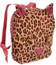 7336eb31aded Bags 57748  Gap Nwt Cat Leopard Print Jr Toddler Book Bag Backpack - gt