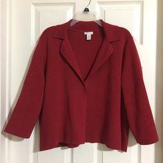 8c73da066e Chico s 3 Red Sweatercoat Jacket - Tradesy Things To Sell