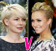 Michelle Williams Or Hayden Panettiere, Who Has The Prettier Pixie? - Hollywood Life