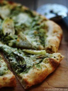 kohlrabi bok choy pizza | local kitchener