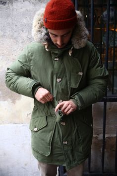 Starcow featured our Hartland olive exhibition parka in their special 'Penfield Down Jackets Part 2' photoshoot.