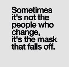 mask fells off
