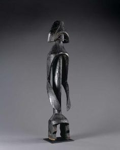 MUMUYE  Nigeria  Male Figure  20th century  Wood    44 3/4 x 9 x 8 3/4 inches     The Museum of Fine Arts, Houston    Gift of The Brown Foundation, Inc.    Department of the Arts of Africa, Oceania, & the Americas  Arts of Africa