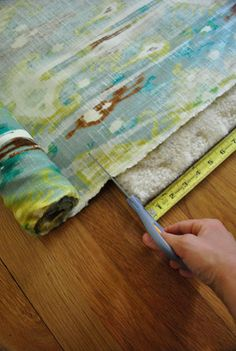 curtain diy ..cool trick for cutting fabric! (always wanted to make my own, perhaps this will give me the push)!