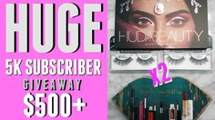 5000 SUBSCRIBERS GEVEAWAY!! HUDA BEAUTY DESERT DUSK | TOO FACED | KAT VO...