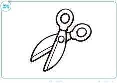 tijeras para colorear dibujos - Buscar con Google