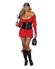 Sexy Pirate Costumes - Pirate Wench Adult Plus Size Costume Pirate Wench Costume, Pirate Dress, Female Pirate Costume, Pirate Halloween Costumes, Halloween Ideas, Toga Costume, Happy Halloween, Halloween Party, Plus Size Costume