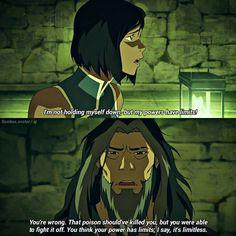 """⠀⠀⠀ Zaheer really helped Korra realize her real power!  ⠀⠀⠀ He's my favorite lok villian  #legendofkorra #korra #zaheer"""