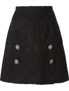 Shop Dolce & Gabbana embossed A-line skirt in Boutique Antonia from the world's best independent boutiques at farfetch.com. Over 1000 designers from 60 boutiques in one website.