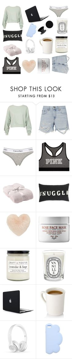"""Make time for yourself"" by emmysaur ❤ liked on Polyvore featuring Sans Souci, rag & bone, Calvin Klein Underwear, Victoria's Secret, Barefoot Dreams, Nordstrom, Craft + Foster, Diptyque, STELLA McCARTNEY and PopSockets"
