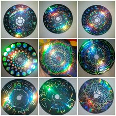 Scratch pictures from old CDs - paint the CD with acrylic paint. Let dry. - Scratch pictures from old CDs – paint the CD with acrylic paint. Let dry. Diy Craft Projects, Diy Crafts For Kids, Projects To Try, Arts And Crafts, Cd Recycling, Old Cd Crafts, Cd Project, Cd Art, Scratch Art