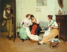 the friendly gossips - (Eugene De Blaas)