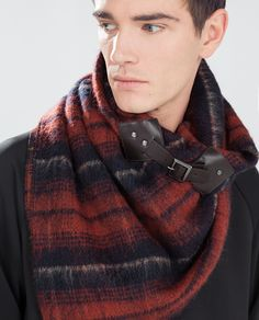 PATTERNED SCARF from Zara