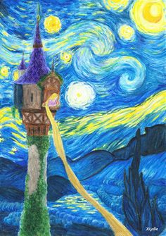 Tangled-Starry Night by Xijalle on deviantART