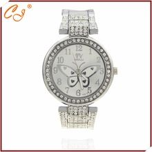 74854dafebc 2016 mulheres de diamante borboleta Design Oval liga de ouro relógio  feminino Casual acessório de luxo